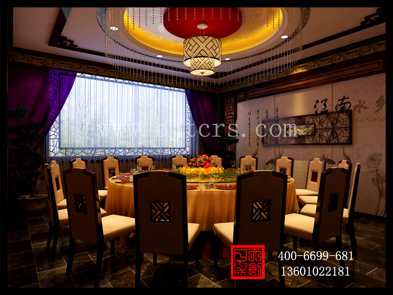 中式餐饮包间装饰图设计