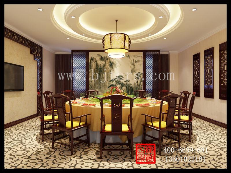 新中式餐厅小包间设计