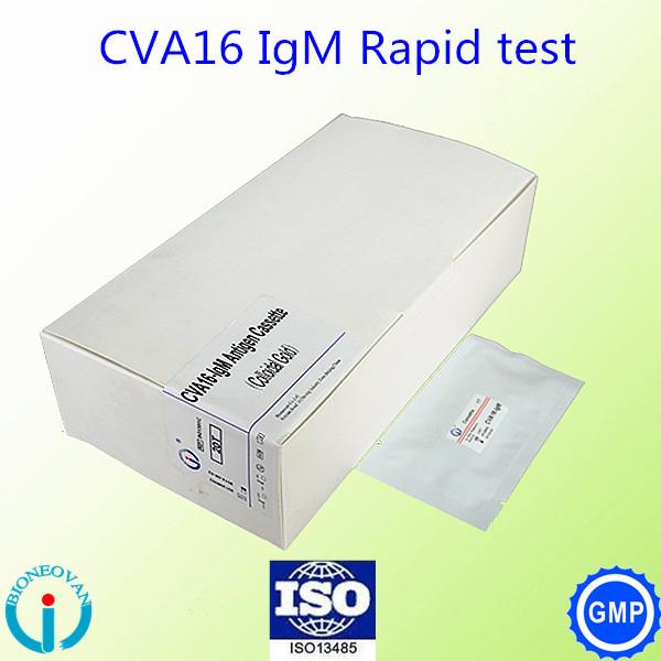 Coxsackie Virus A16 (CVA16)-IgM rapid test cassette