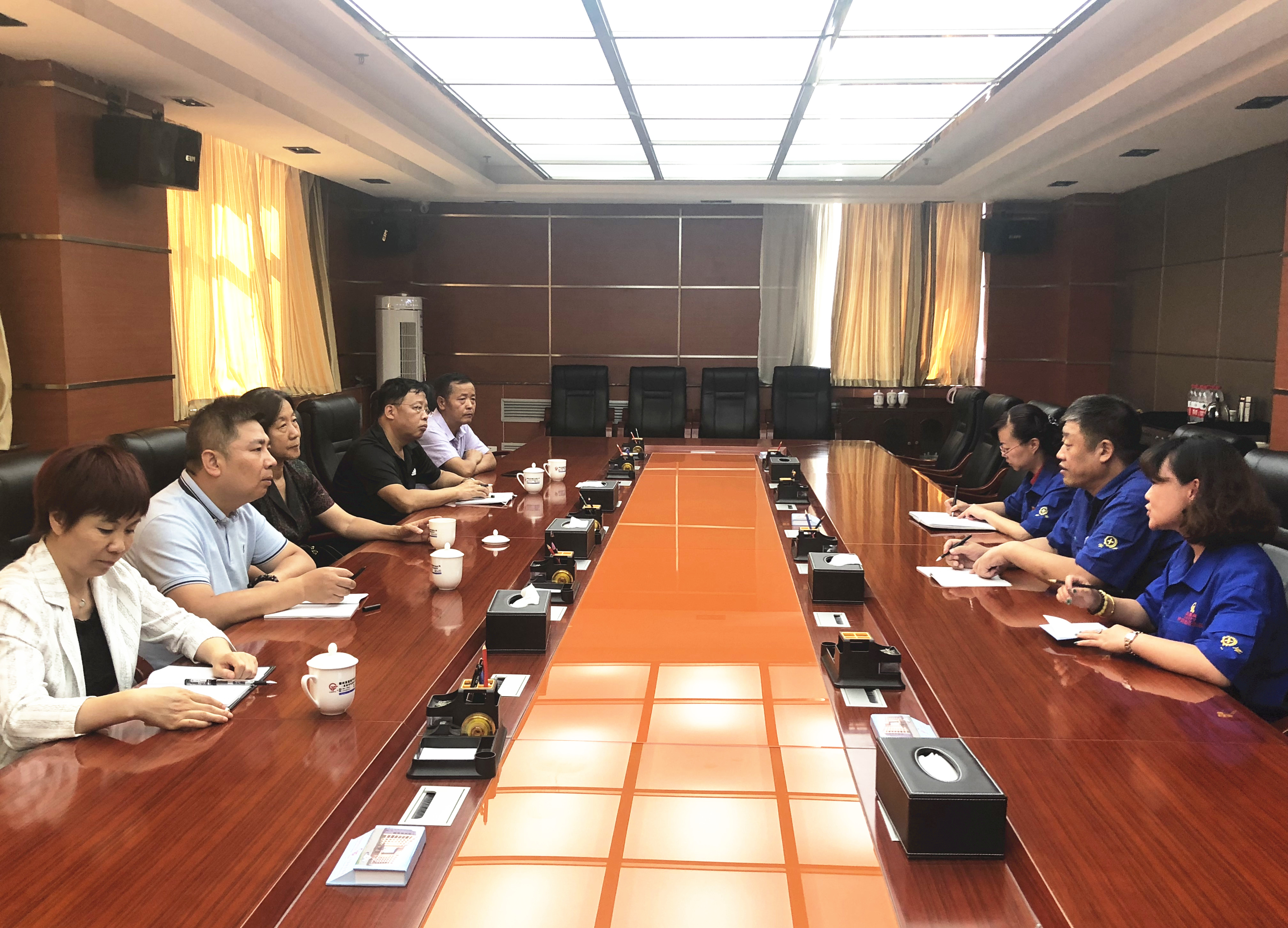 中国工业合作协会新任理事长田玉萍一行来我公司参观指导工作