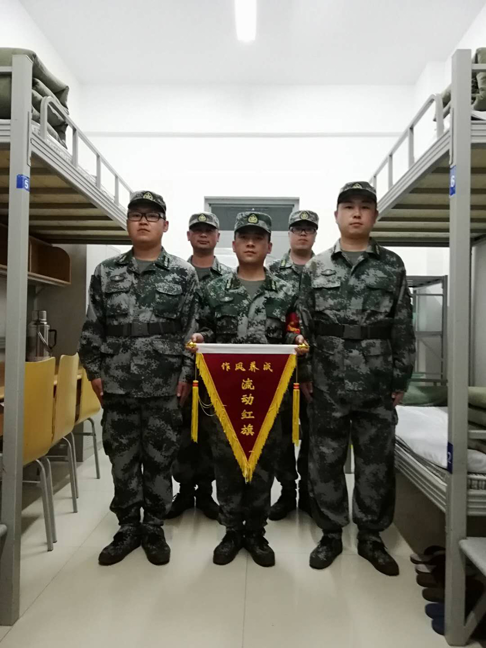 公司民兵参加轮训备勤训练