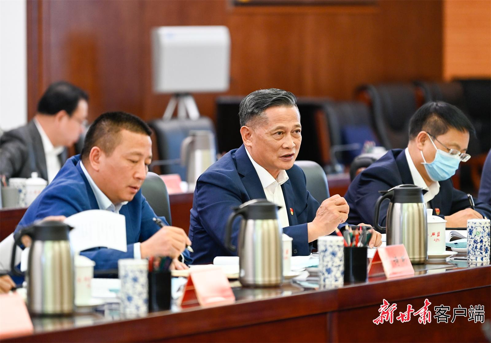 兰高阀董事长陈清流参加省委营商环境工作座谈会并发言