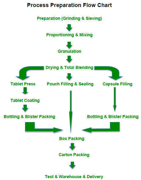 Solid Preparation Process Flow Chart Snail Pharma Industry Colimited