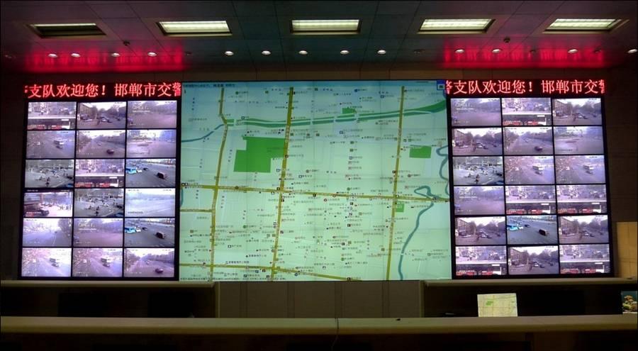 某分局110指挥中心大屏幕显示系统