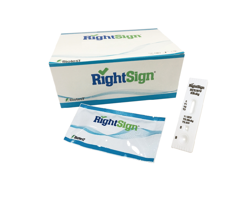 Picture of HCV/HIV/HBsAg Rapid Test (One Strip)
