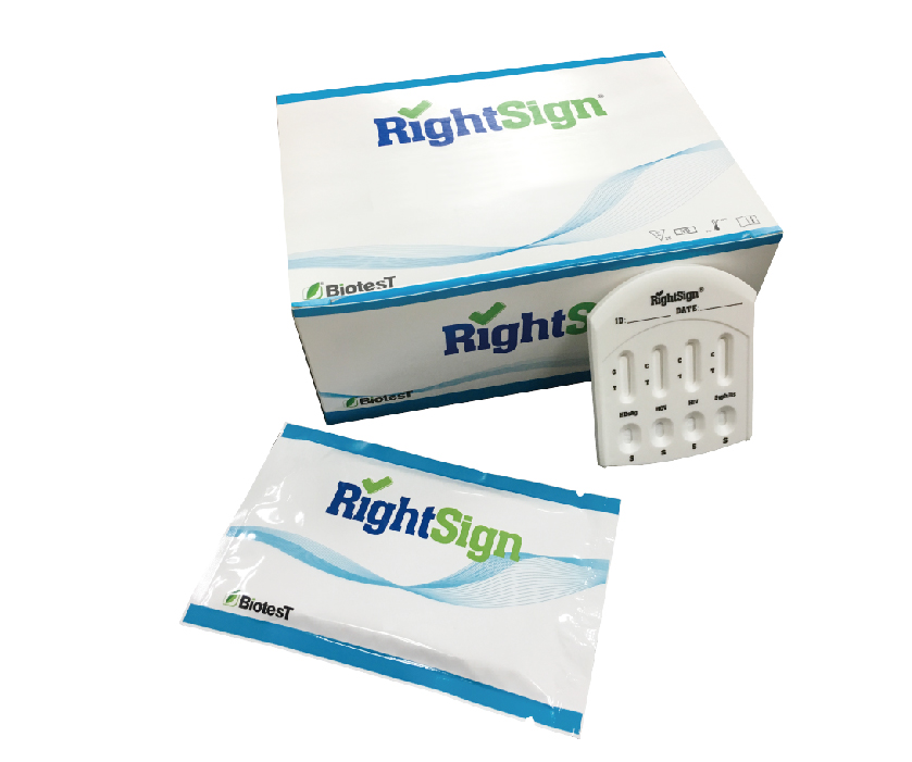 Picture of HBsAg/HCV/HIV/Syphilis Combo Rapid Test