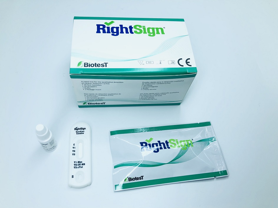 Picture of Myoglobin/CK-MB/Troponin I Combo Rapid Test
