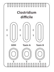 Picture of Clostridium difficile GDH+Toxin A+B Combo Rapid Test