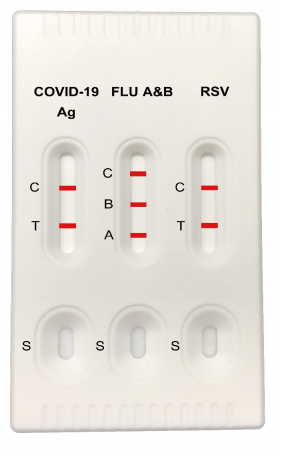 Picture of COVID-19+Flu A&B+RSV Antigen Combo Rapid Test