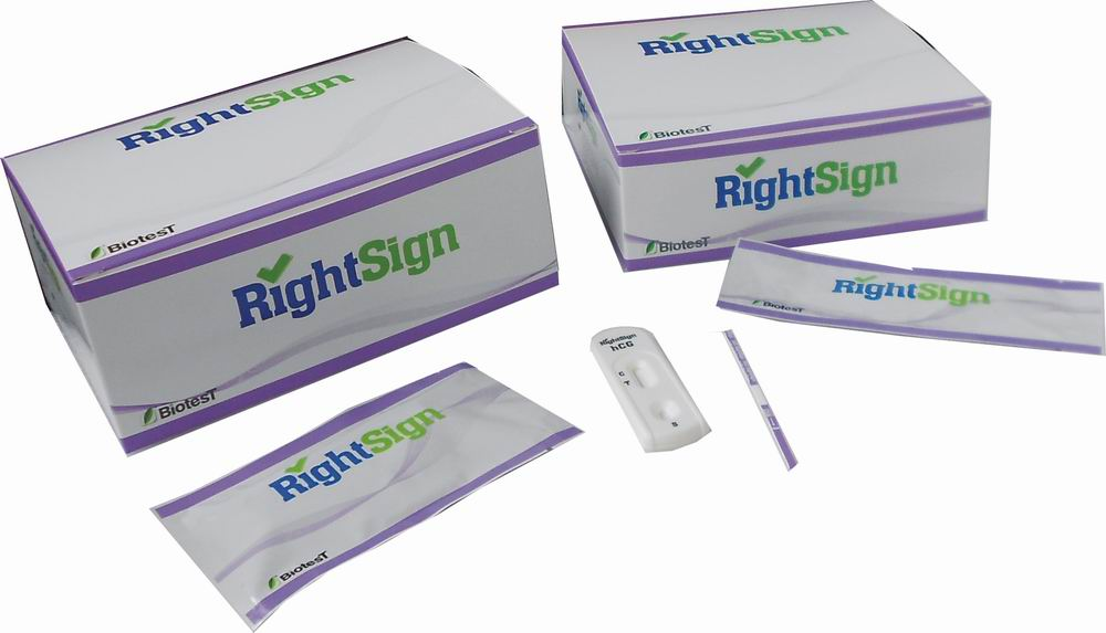 Picture of hCG Pregnancy Rapid Tests