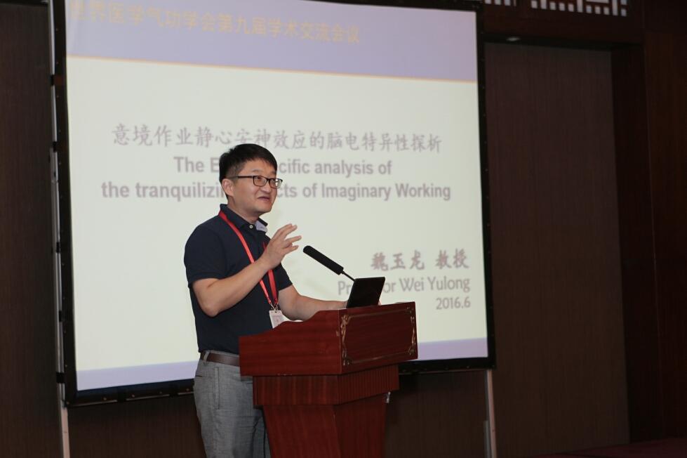 学术委员会常务副主任魏玉龙教授作学术发言