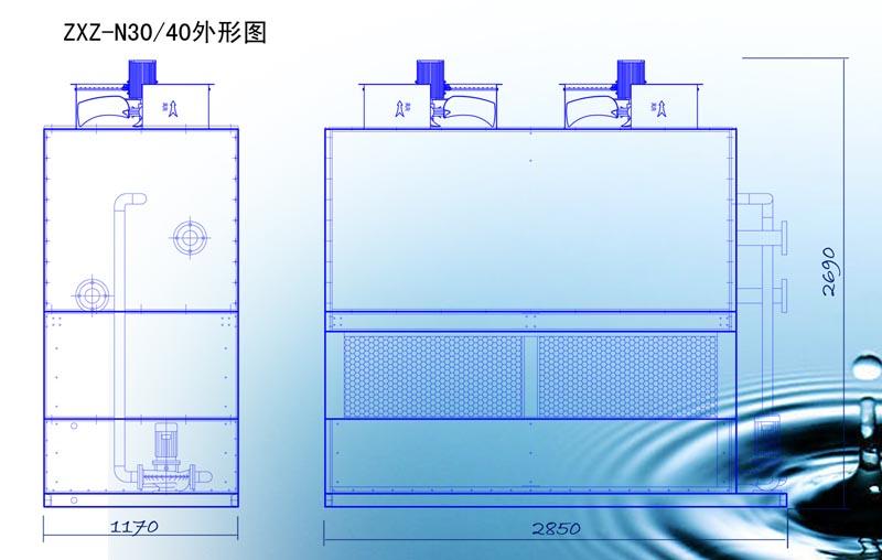 闭式冷却塔ZXZ-N40G