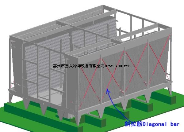 惠州雪人横流式冷却塔安装详细步骤(第二部分)