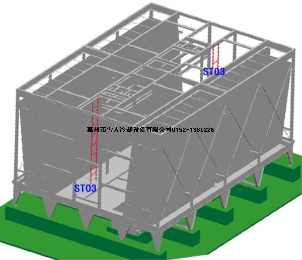 惠州雪人横流式冷却塔安装详细步骤(第三部分)