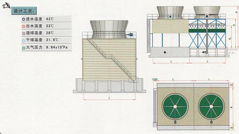 xr400钢结构逆流式工业型冷却塔