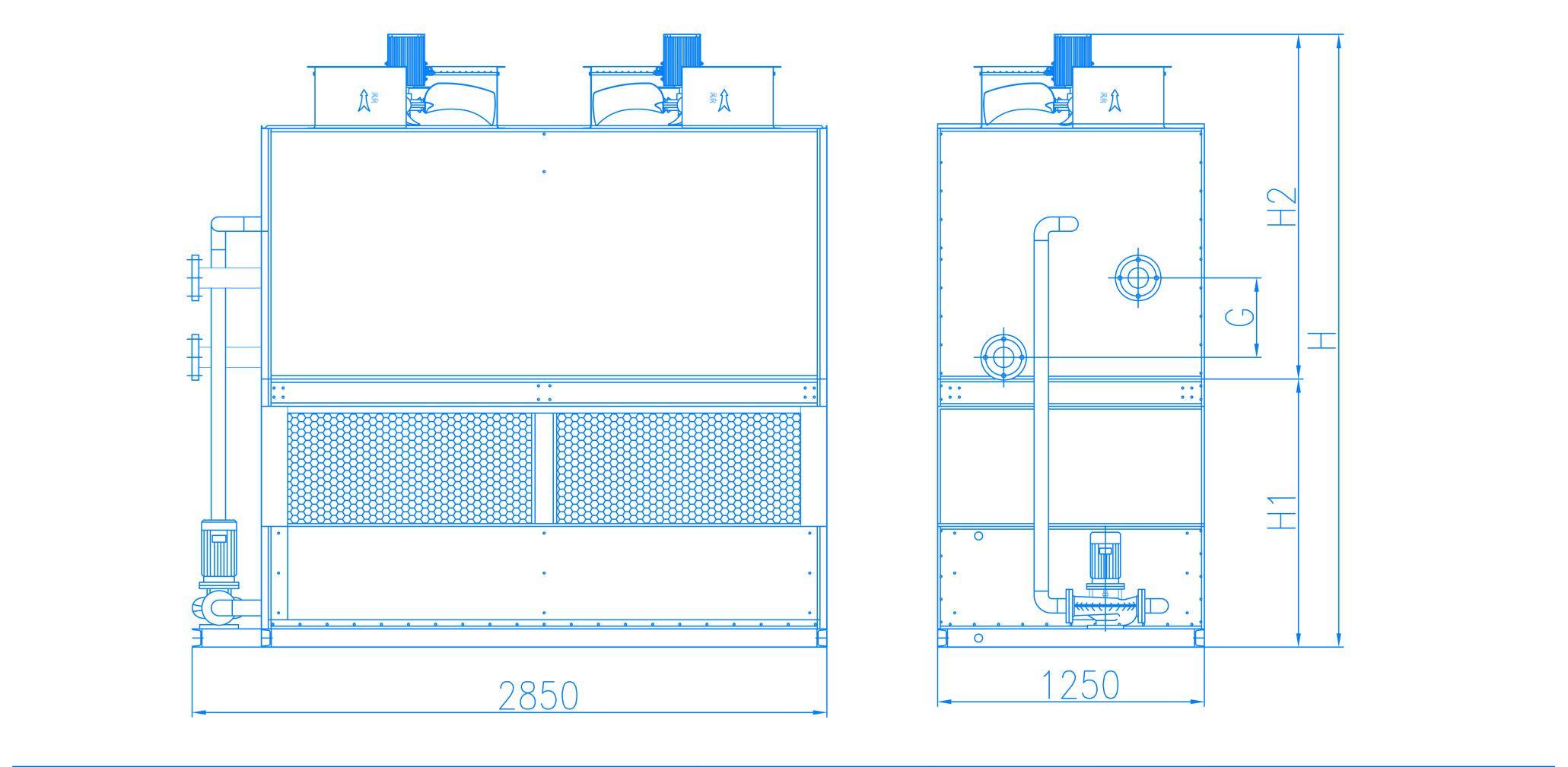 闭式冷却塔ZXZ-N80G