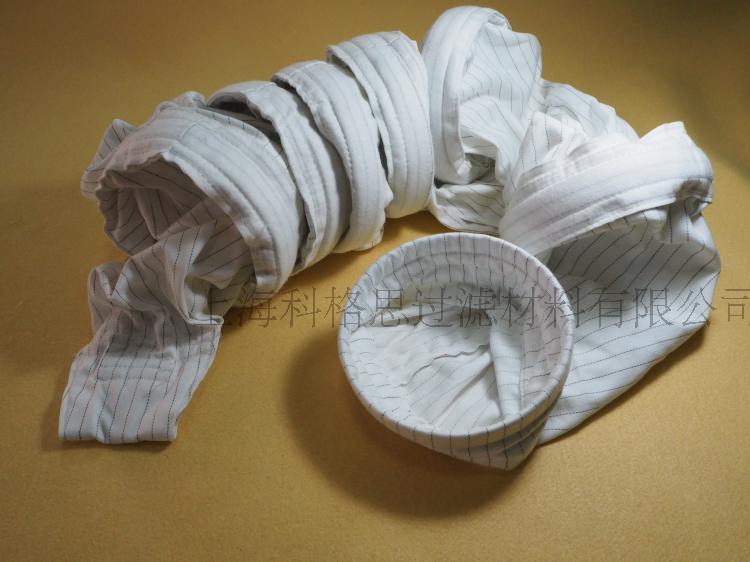 涂纶机织布防静电铁环除尘过滤袋