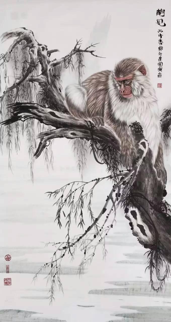 李广彦大师国画之五动物系列