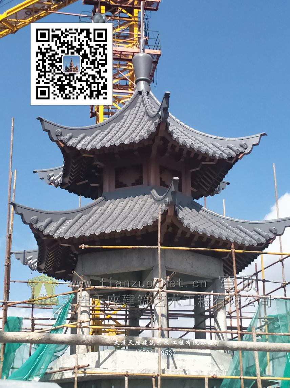 中国古建凉亭亭子中国古典式天坛祈年殿清真寺穹顶圆顶圆包