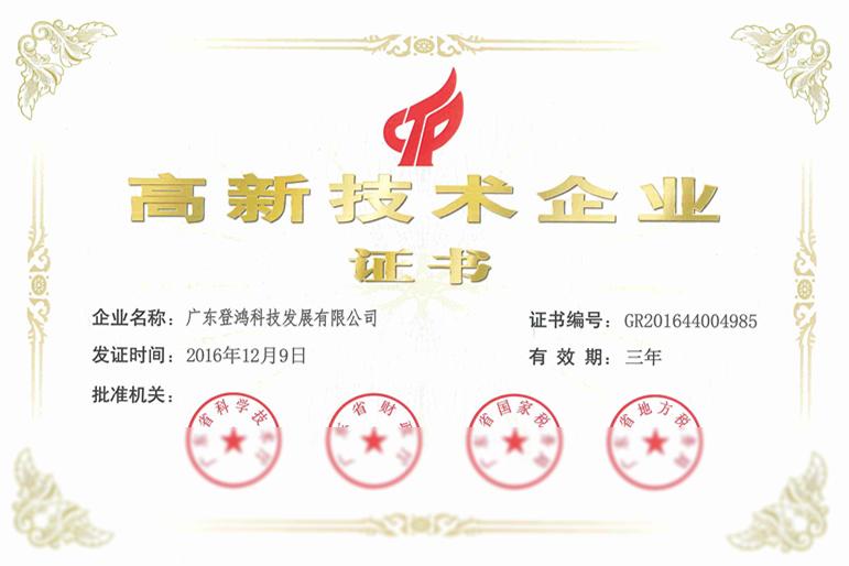 01高新技术企业证书
