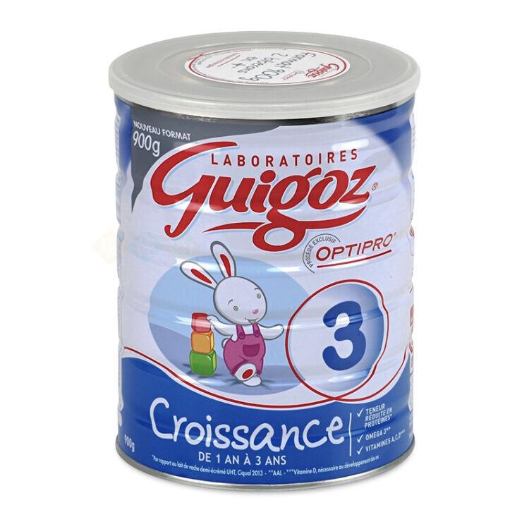 法国直邮 古戈氏/Guigoz标准型配方奶粉3段(1-3岁) 900g*6罐