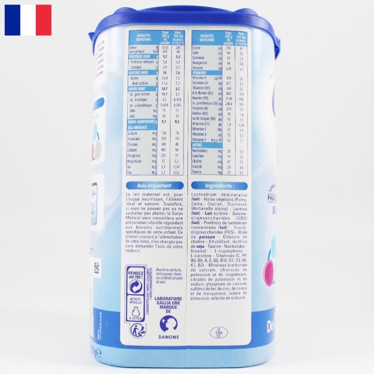 法国直邮 Gallia/佳丽雅标准型 经典型 婴幼儿奶粉 1段(0-6个月)800g*6罐