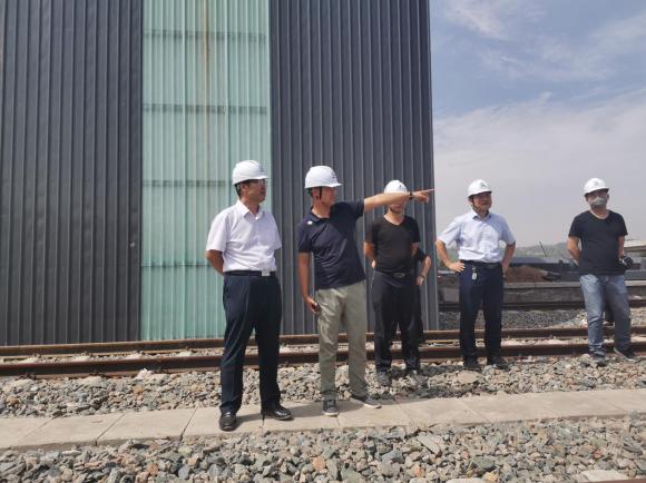 王勇深入郭家湾检查项目建设情况及汛期安全工作