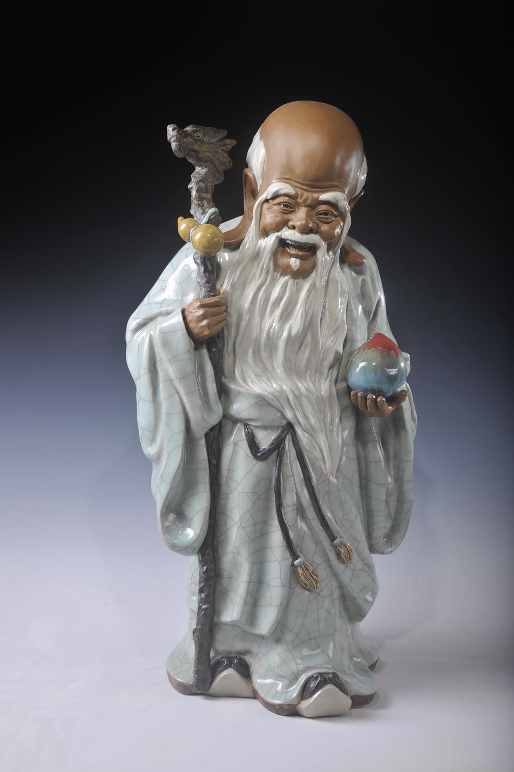 广东佛山 作者:廖洪标、廖海峰  石湾陶塑 与君同寿