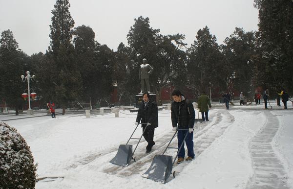 北京中山公园采购轮式人工除雪铲--北京政府采购