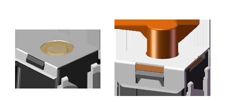 6x6 mm J 型SMT防水轻触开关