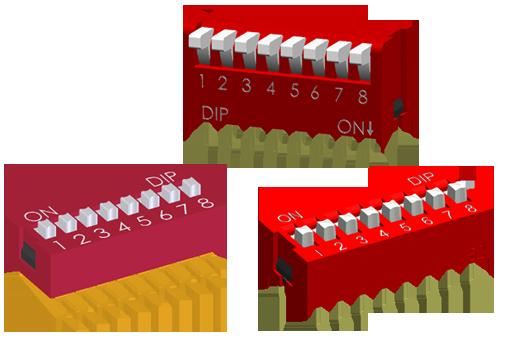 一般型拨码开关 DIP SW NDS,DP(L),DA SERIES