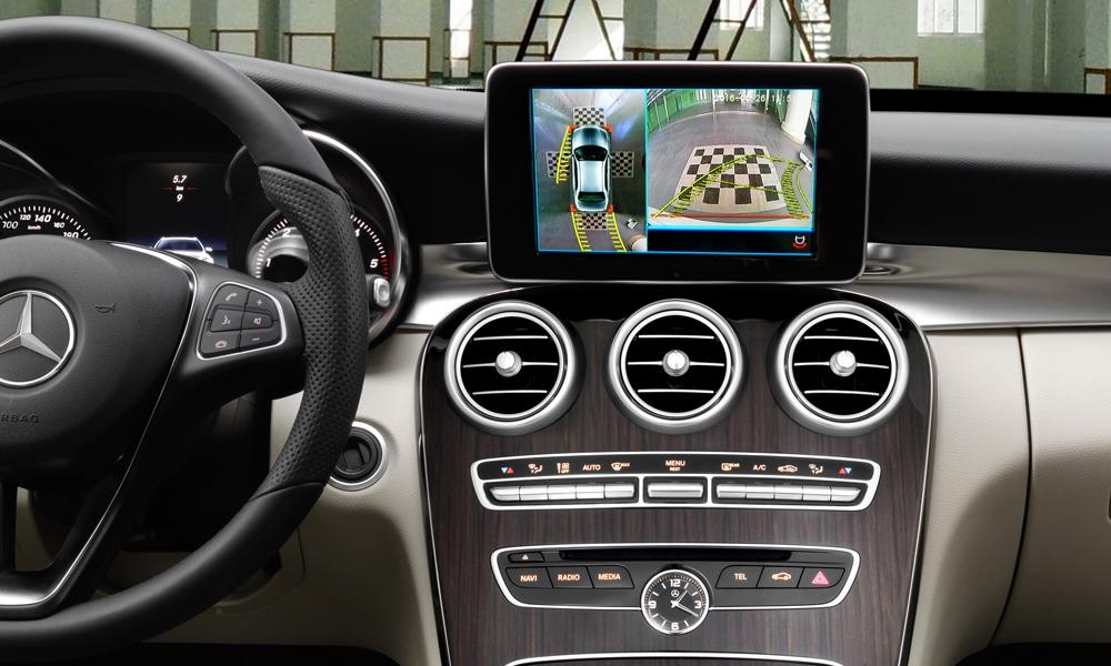 2016款奔驰NTG 360度环视倒车一体机