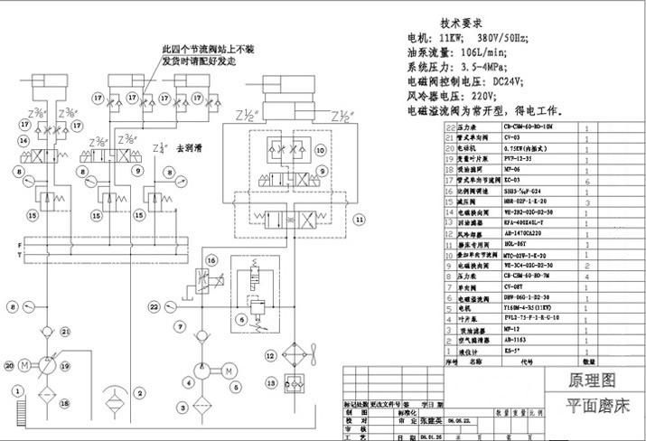 平面磨床液压系统原理图-上海台拓液压机械有限公司