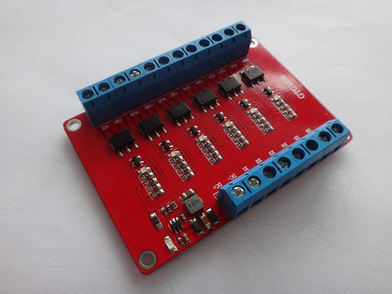 6路固态继电器模块/高电平触发48v/1a光耦隔离输出