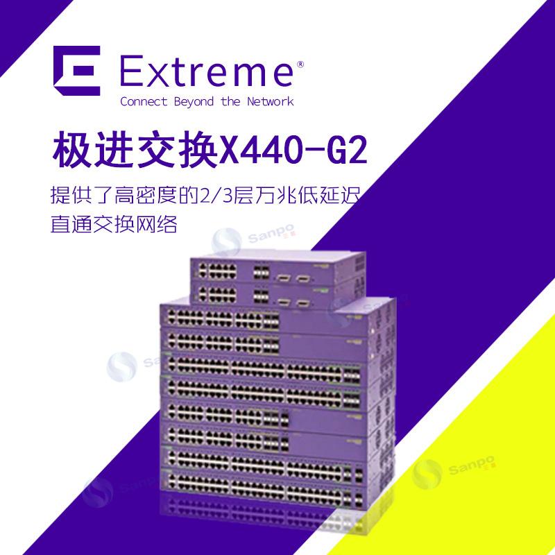 Extreme极进 Summit X440 入门级可堆叠智能汇聚交换机