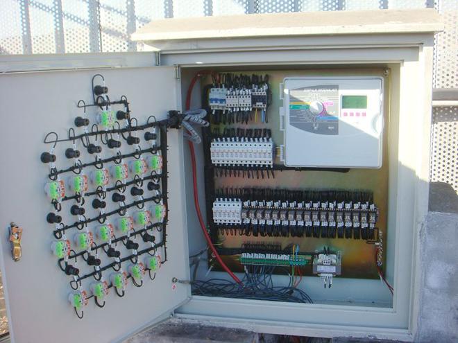 15kw的定时自动控制箱接线图