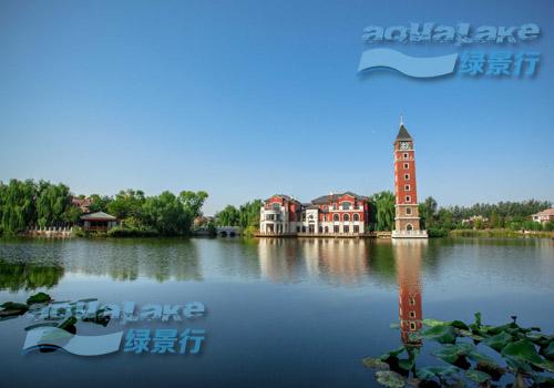 北京提香草堂别墅大湖生态净化工程
