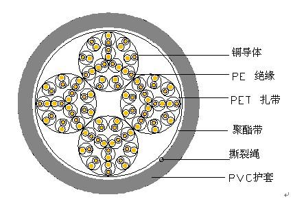 非屏蔽局用对称电缆  SBYV-100