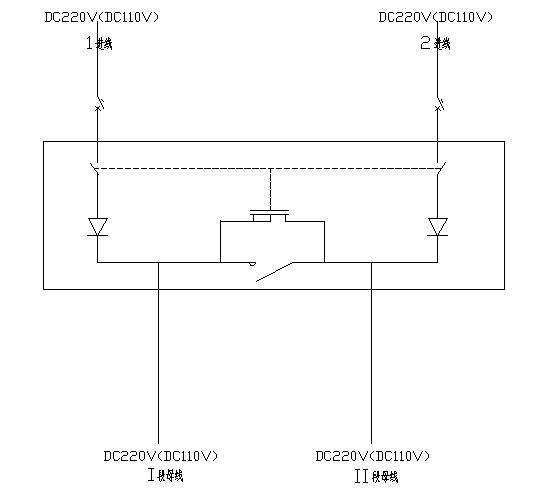 双电源切换,直流双电源系统,双电源切换 三, dpas 系列原理图 dpas-z