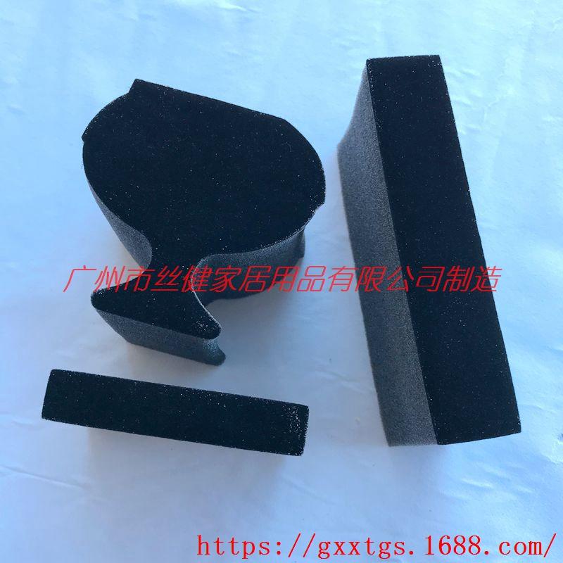 植绒海绵内托 包装海绵内衬价格 异形海绵加工厂
