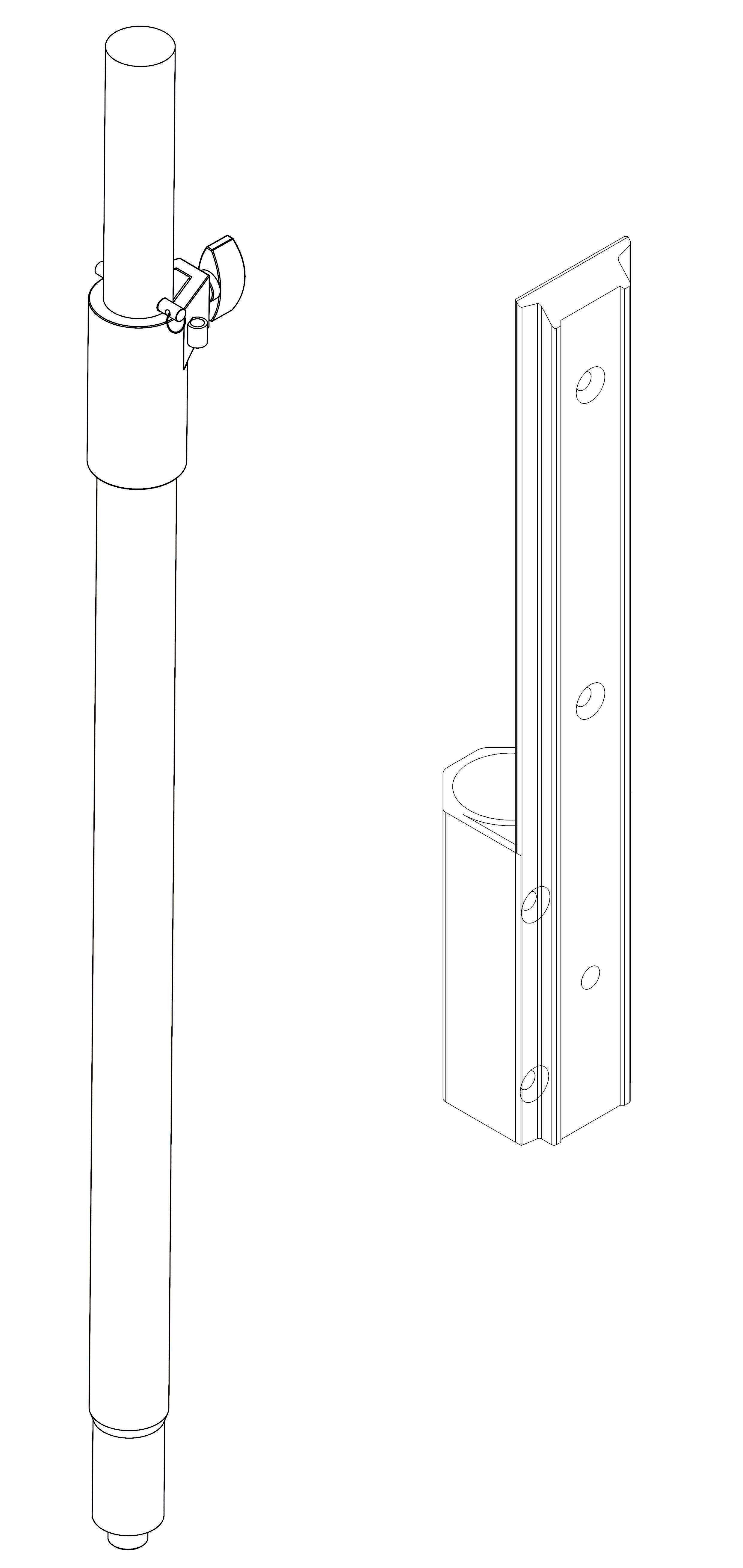 CI-002L 音箱支杆