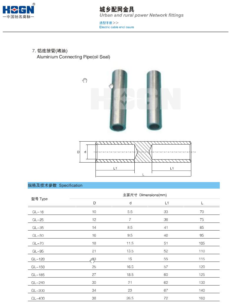 GL铝连接管(堵油)