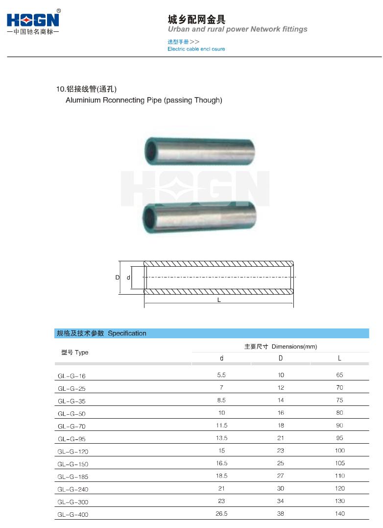 铝接线管(通孔)