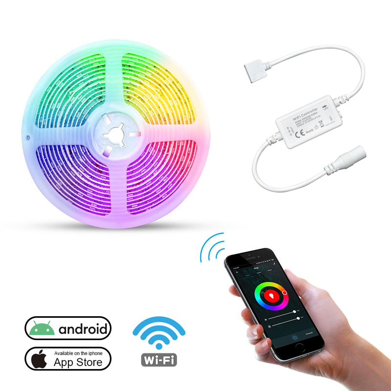 Android Led Wifi Controller with 5050 RGB Led Strip
