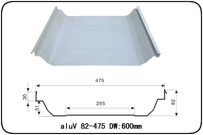 aluV 82-475 (aluV 60-490)鋁鎂硅合金屋面板