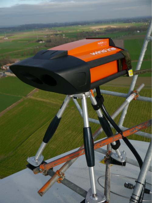 联合动力国内首次应用机舱激光雷达进行风电机组功率曲线测试