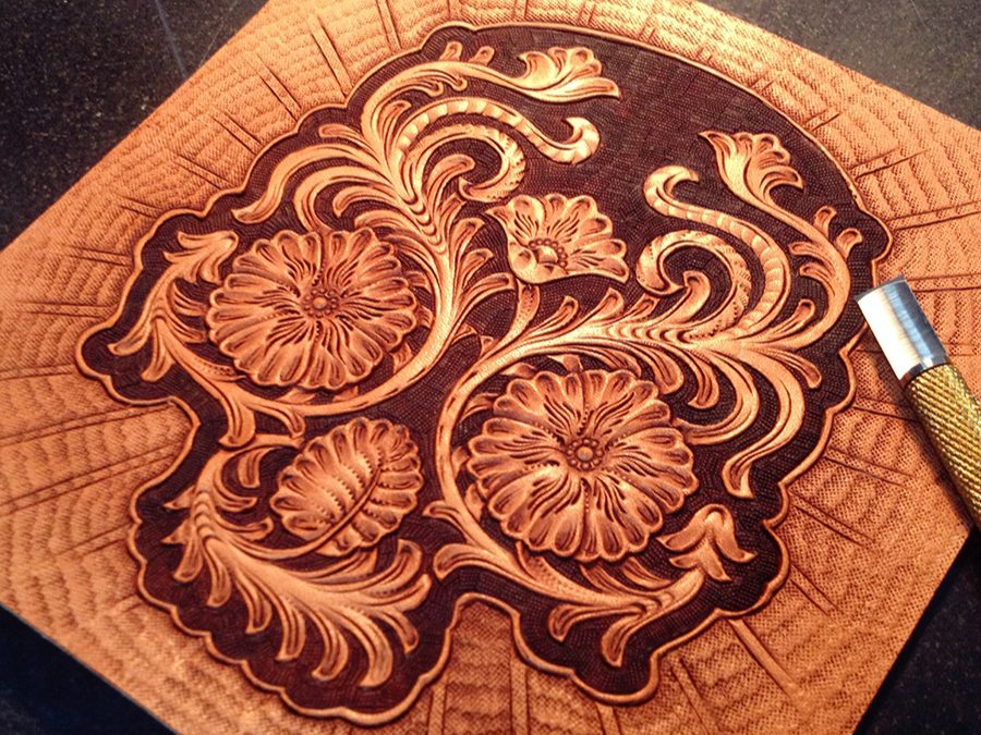 Image gallery leather carving