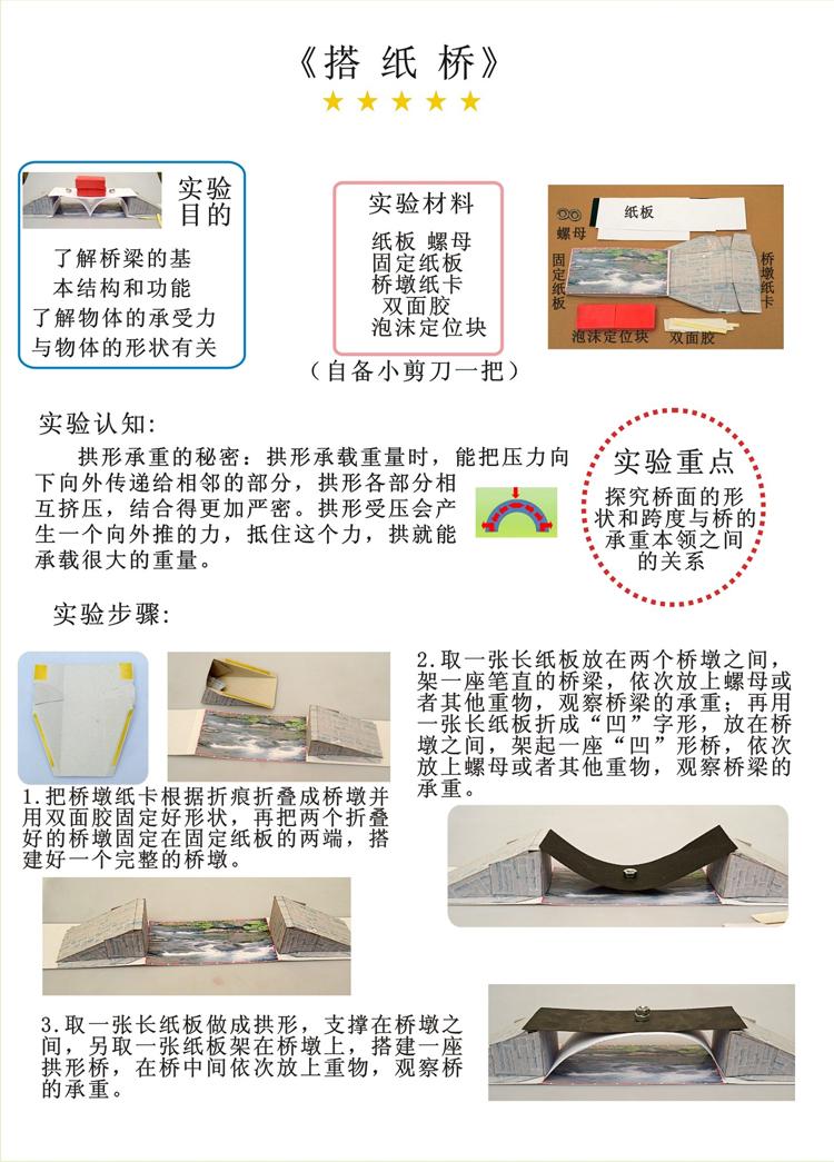 搭纸桥-科技小制作—小玩童科学实验
