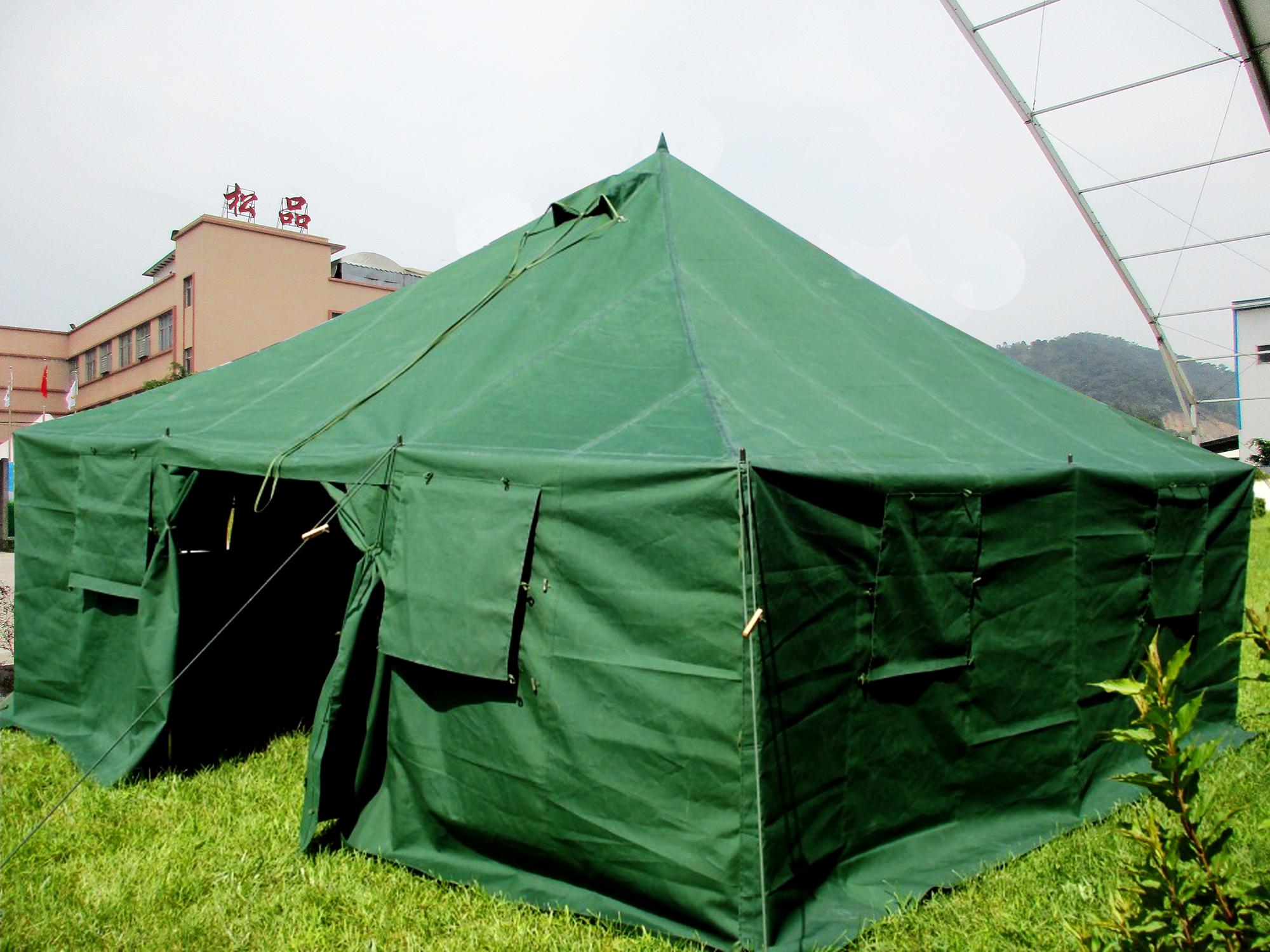 军工加厚工程帆布棉帐篷户外工地施工帐篷民用野外救灾防雨
