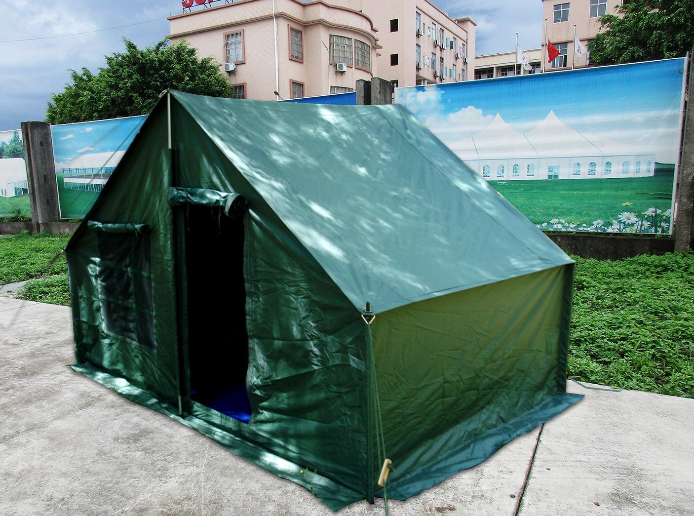 野户外大型防雨水施工帐篷军工程工地民用救灾养蜂养殖帆布棉帐篷